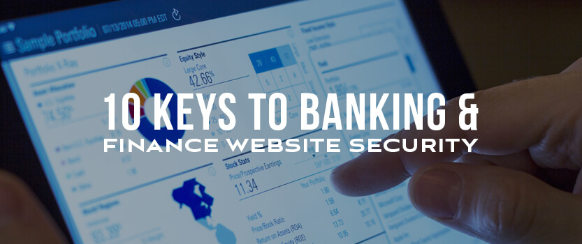 Onsharp 10 keys to banking and finance website security